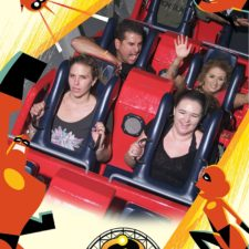Employees on the Incredicoaster.