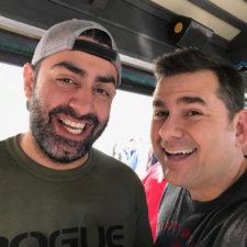 Two smiling men.