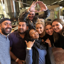Employees at a brewery