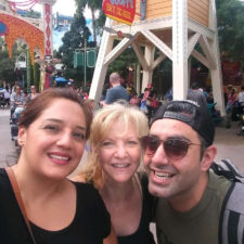 Three employees taking a selfie at Disneyland